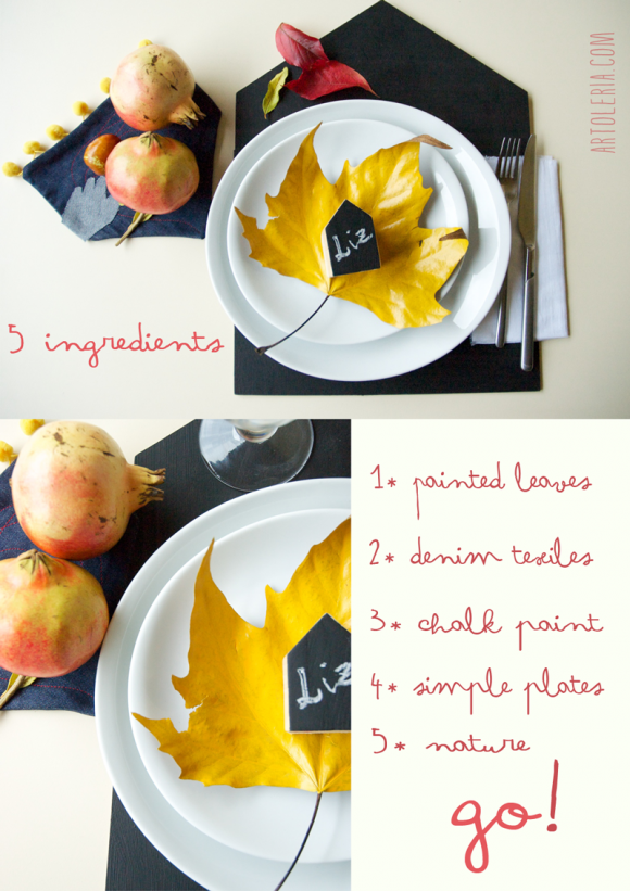 Tavola Autunno - DIY - Autumn Table decoration
