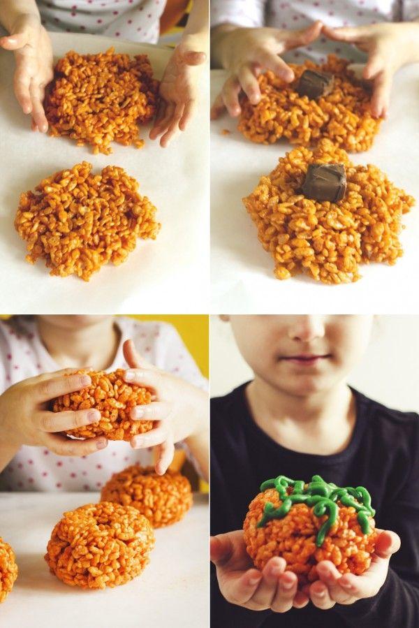 Tutorial zucche di riso soffiato al cioccolato