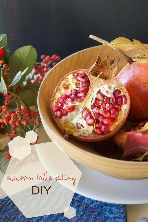 Tavola d'Autunno - DIY - Autumn Table decoration - tutorial