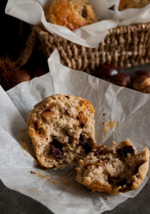 muffin castagne e cioccolato - castagne - cioccolato