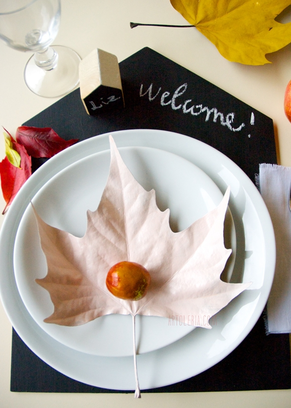 tavola - Autunno - DIY - table decoration