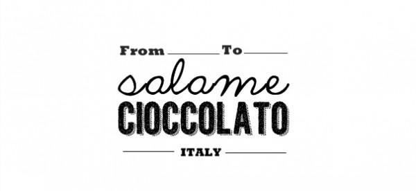 salame di cioccolato - free printable