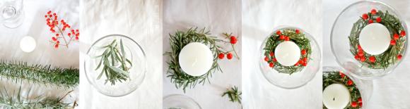DIY candele Natale