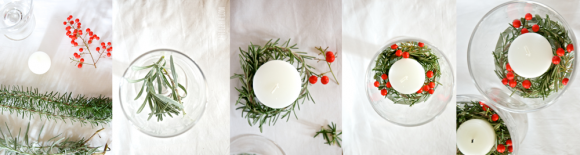 DIY - candela di Natale