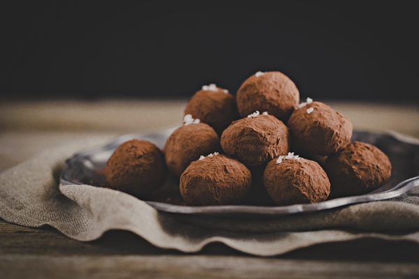 tartufi cioccolato arancia - chocolate orange truffles