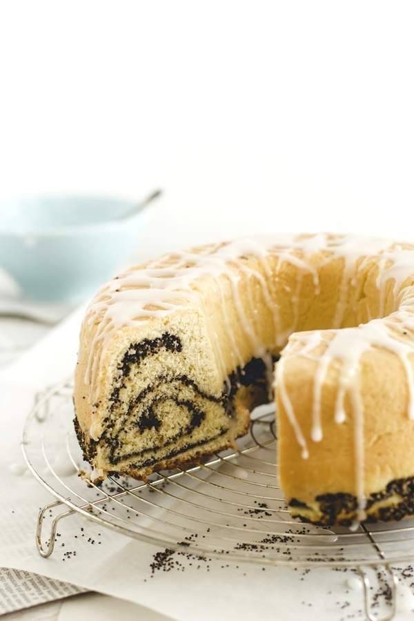 Rotolo ai semi di papavero - Poppy seeds roll cake
