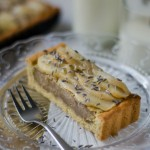 Crostata alle pere, mandorle e lavanda - Guest post - Lavender and pear in crispy almond pie