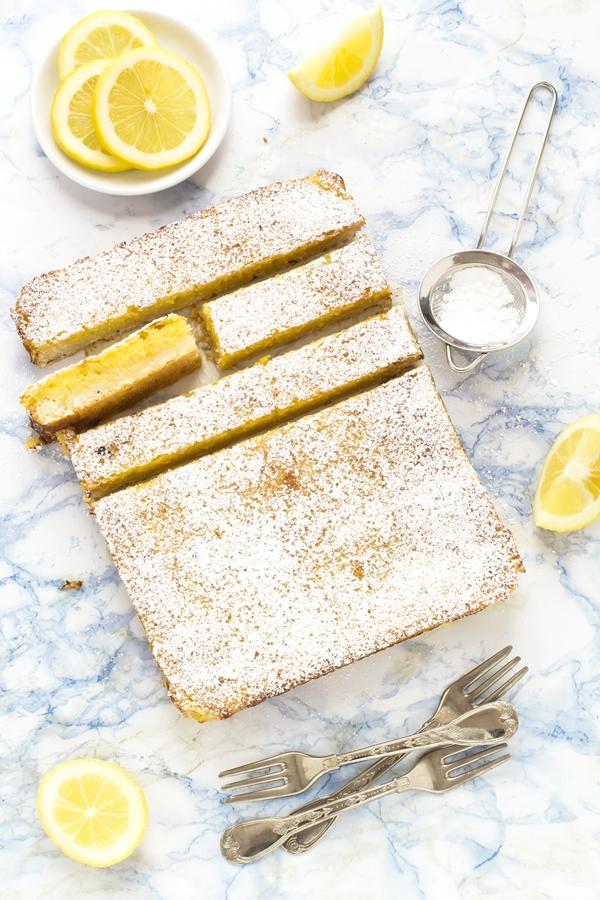 lemon bars - barrette al limone