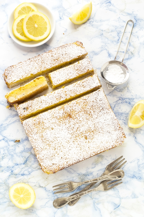 lemon bars - crostata morbida al limone - barrette al limone