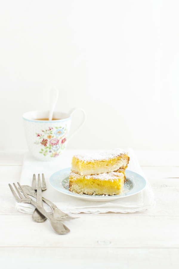 lemon bars - crostata morbida al limone - barrette al limone