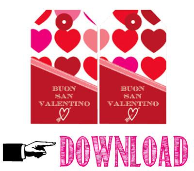 Free printable San Valentino