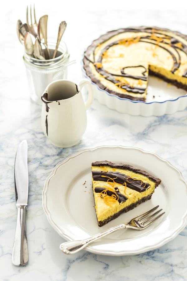 crostata cioccolato e arancia - orange chocolate tart