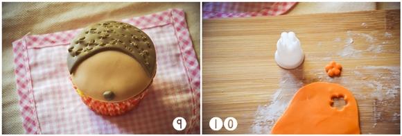 Tutorial cupcakes in pasta di zucchero