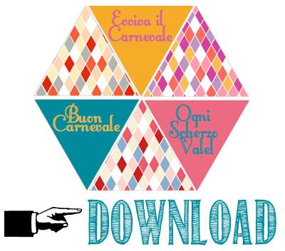 Free printable bandierine di Carnevale
