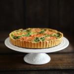 Quiche di spinaci e gamberetti - Shrimp & Spinach Quiche Guest post
