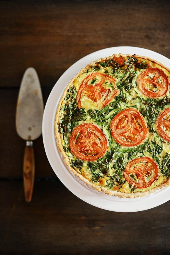 Torta salata spinaci e gamberetti - Quiche di spinaci e gamberetti - Shrimp & Spinach Quiche