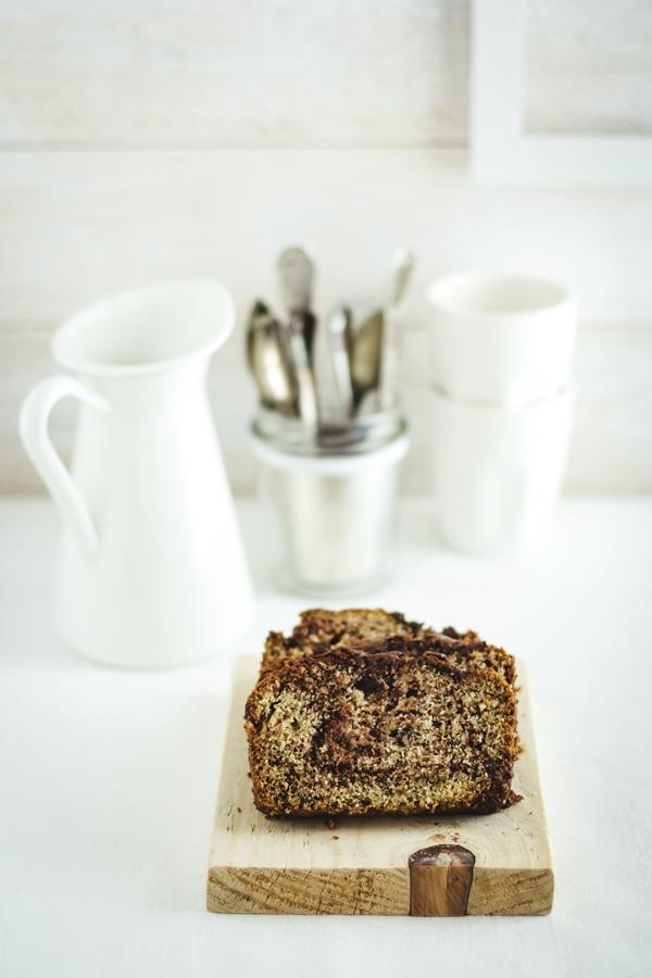 banana nutella bread - plumcake alla Nutella