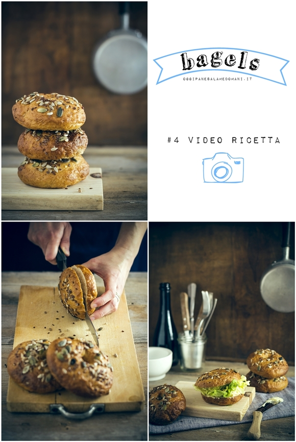 bagels - bagels video ricetta - bagels video recipe - how to make bagels