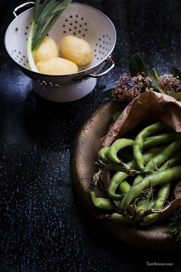 Insalata di patate novelle e fave fresche