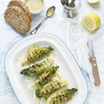 Lattuga alla griglia con salsa alla Caesar - Grilled little gem lettuce with Caesar dressing