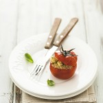 pomodori ripieni con Parmigiano Reggiano e tofu - stuffed tomatoes with Parmigiano and tofu