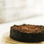 Torta di pane al cacao e cioccolato - Chocolate and cocoa bread pudding cake