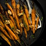 Carote al forno in agrodolce - Honey-glazed roast carrots