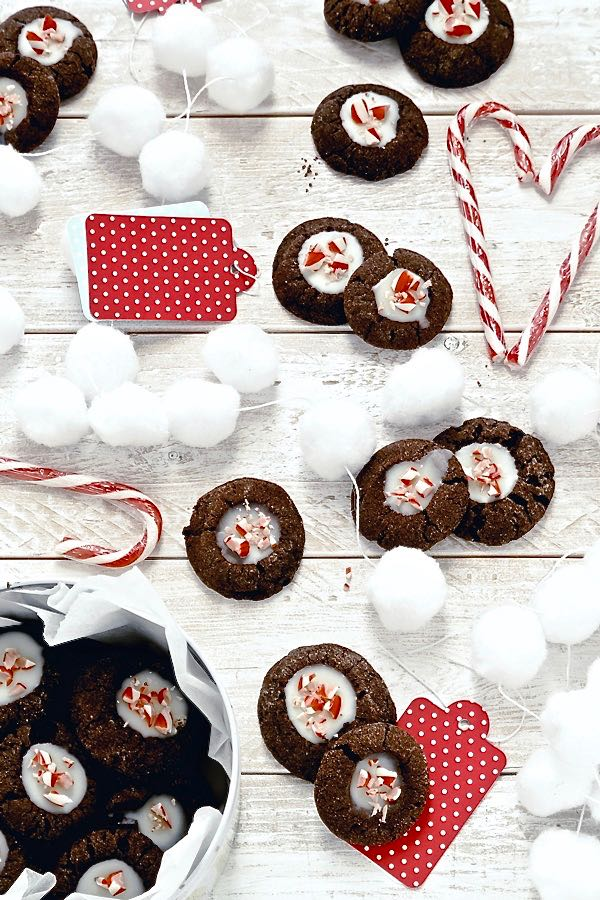 Biscotti al cacao al doppio cioccolato - Double chocolate thumbprint cookies - food photography - food styling - OPSD blog
