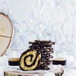 Biscotti senza uova, girandole al cacao e pistacchi - Pistachio pinwheel cookies recipe