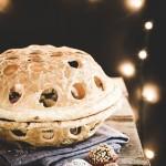 Cestino di pasta sfoglia con tartufini al cioccolato e rum - Puff pastry basket with chocolate and rum truffles