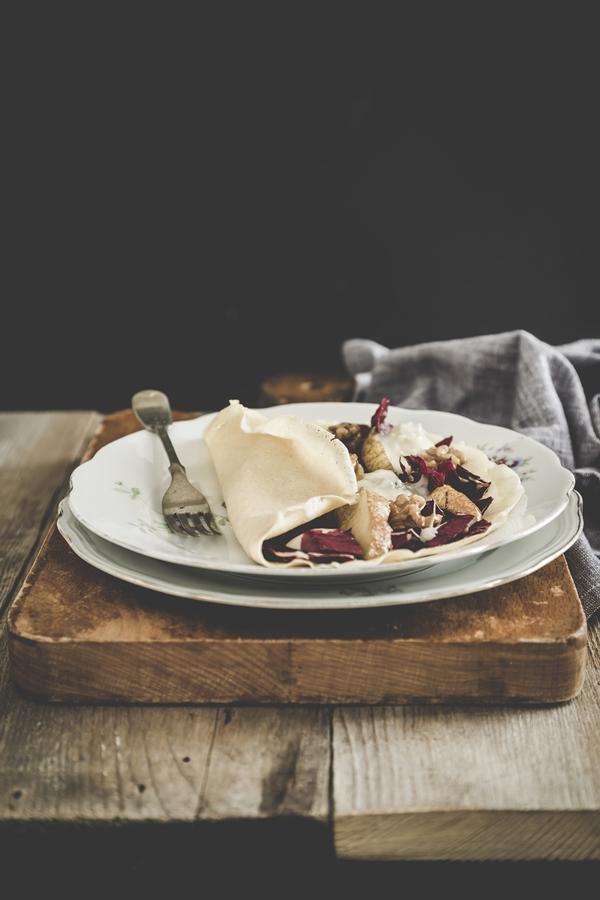 crepes radicchio pere gorgonzola - crepes - pears - radicchio crepes -