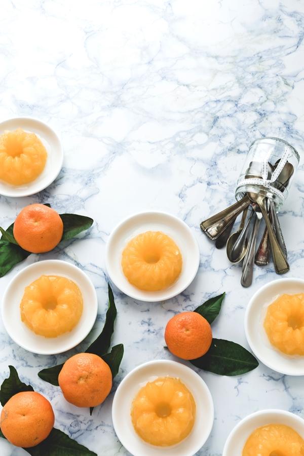 gelatina di prosecco e clementine - Clementine and prosecco jelly