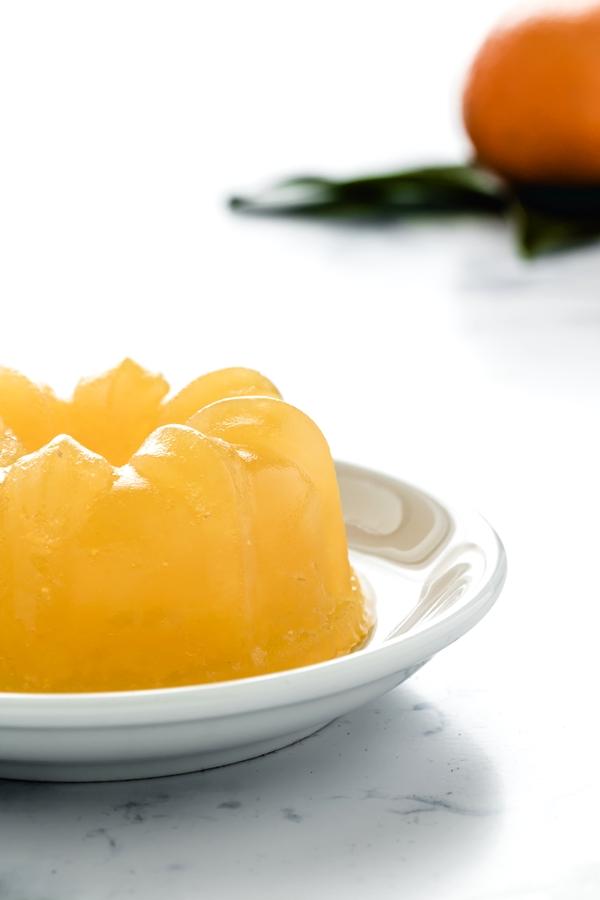 Aspic di clementine e prosecco, Aspic di prosecco e clementine, gelatina di prosecco e clementine, Clementine and prosecco jelly, Prosecco and winter fruit aspic