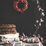 Ghirlande di cioccolato e riso soffiato - Chocolate crispy Christmas wreaths