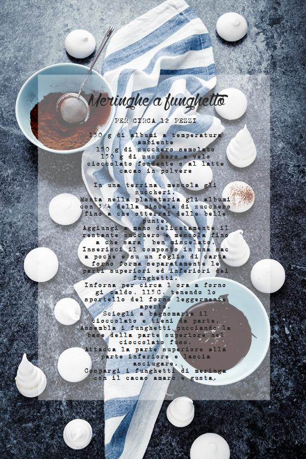 Funghetti di meringa, Mushroom meringues