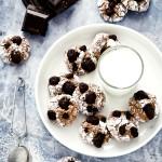 Biscotti morbidi al cioccolato e frutta secca - Chocolate soft cookies with dried fruit