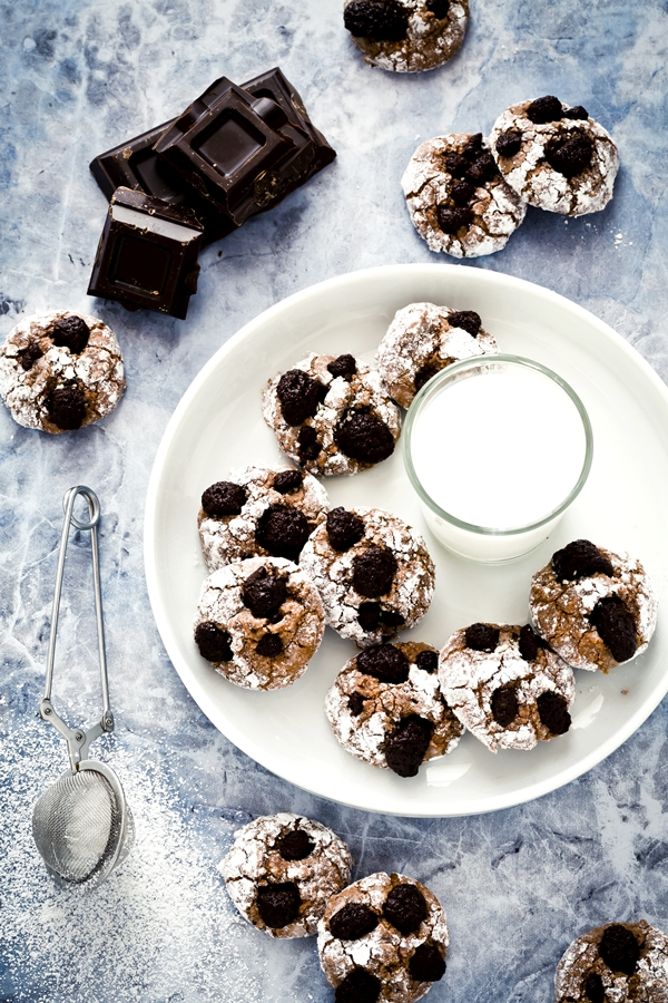 biscotti morbidi - biscotti alla frutta secca e cioccolato - chocolate and hazelnut soft cookies - cookies - macaron cookies