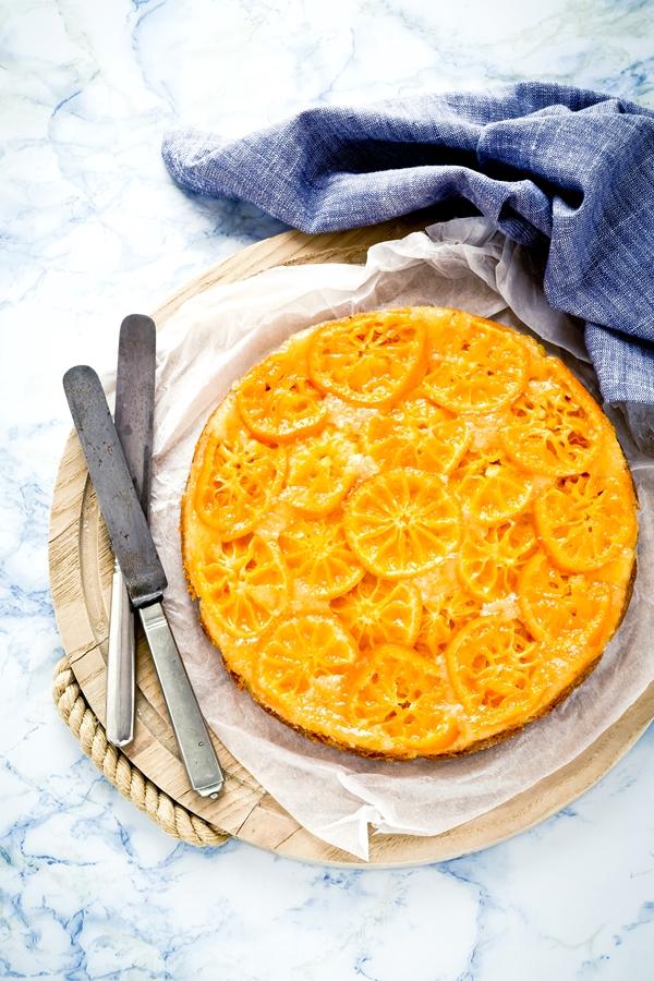 torta rovesciata di clementine - torta di clementine - clementine upside down cake - upside down cake
