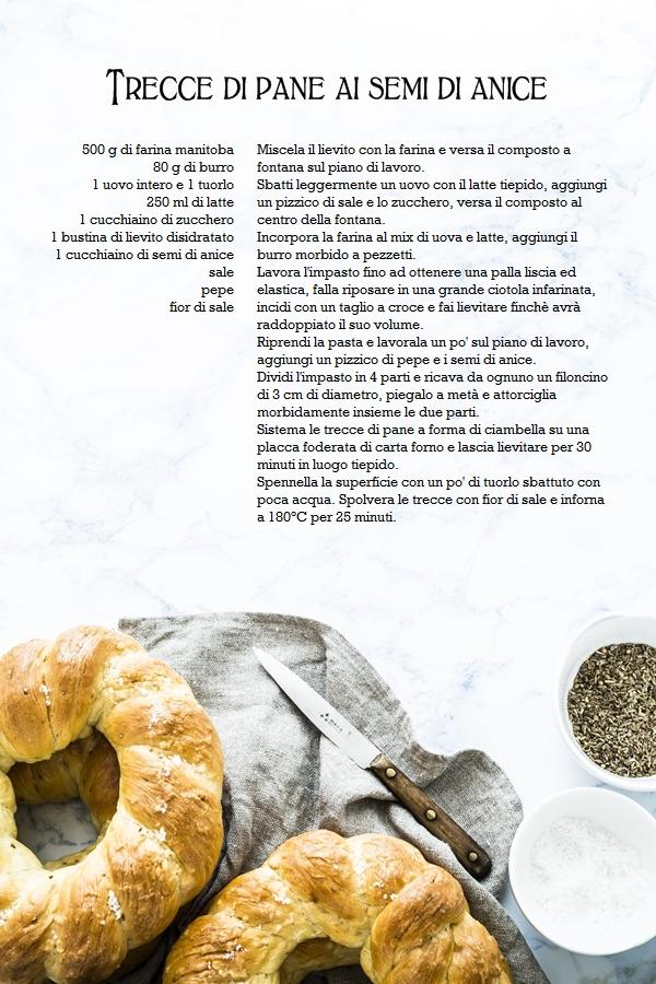 Ciambelle intrecciate di pane ai semi di anice, deliziosi panini tipici del periodi di Pasqua, ottime da sole e perfette con affettati o formaggi, provale subito!, Pane ai semi di anice, Ricetta Trecce di pane ai semi di anice, Aniseed bread recipe, Homemade aniseed bread from scratch