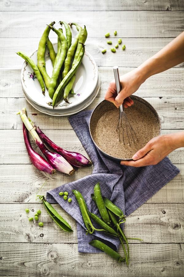 galettes di grano saraceno gluten free con verdure e mozzarella di Bufala Pettinicchio - Crespelle di grano saraceno - Gluten free galettes - Buckwheat galettes