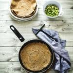 Galettes di grano saraceno gluten free con verdure e mozzarella di Bufala - Gluten free galettes with broad beans, peas and mozzarella di Bufala