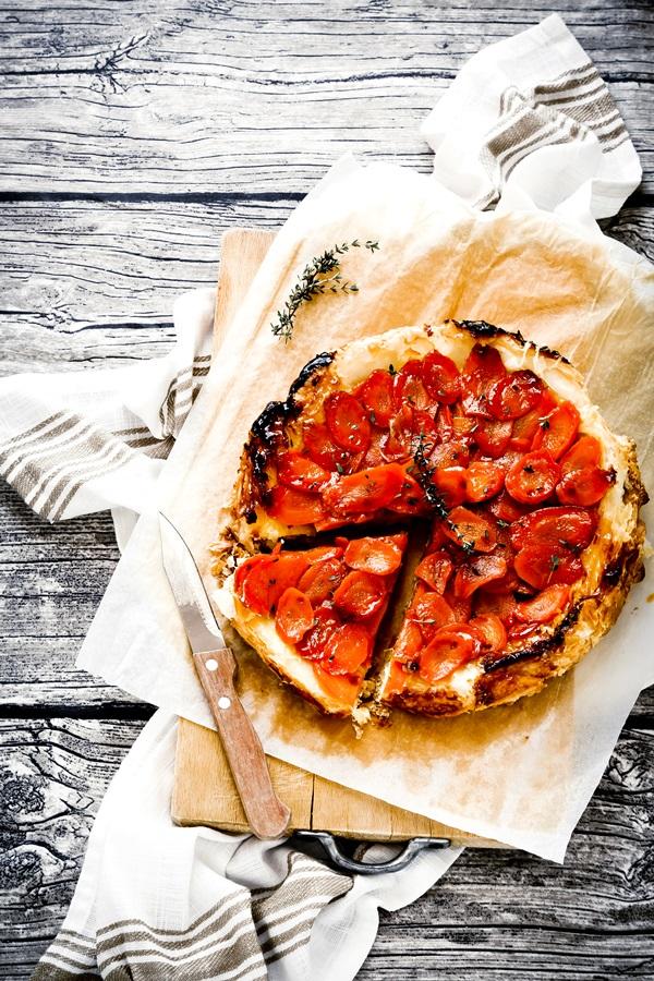 tart rovesciata di carote - tart capovolta di carote e brie - Upside down carrot tart - Upside down carrot tart recipe - Carrot tatin