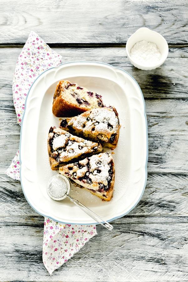 Torta morbida ai mirtilli - Torta ai mirtilli - Soft blueberry cake - Blueberry cake