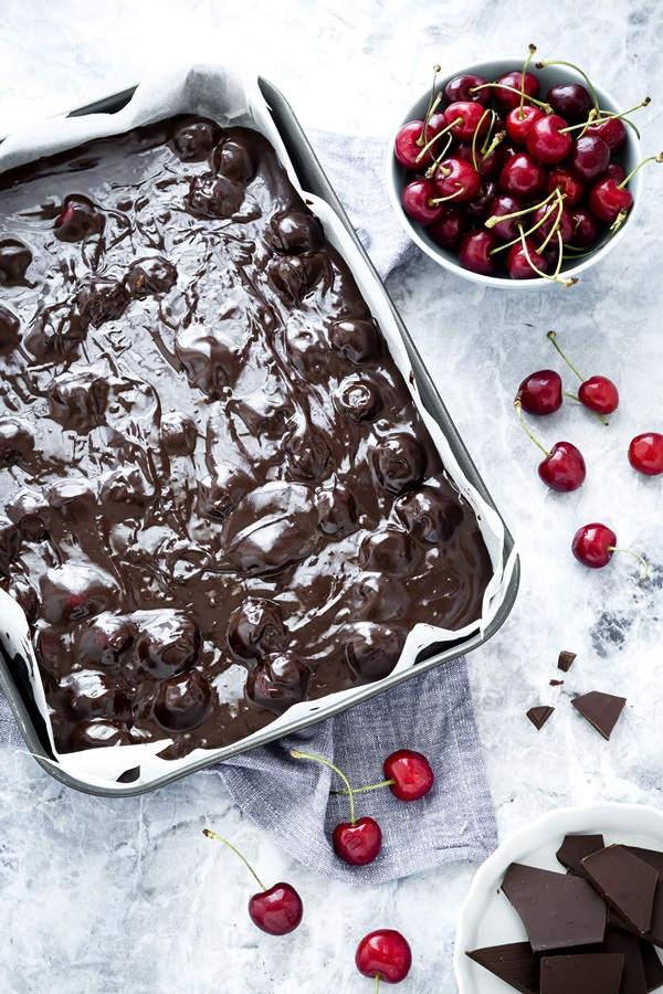 brownies alle ciliegie - cherry brownies