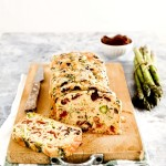 homemade gluten free pasta recipe - Asparagus, sundried tomato and olive loaf
