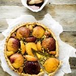 crostata pesche e pistacchi - peach and pistachio tarte