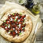 torta salata ai pomodorini - rustic tomatoes tart