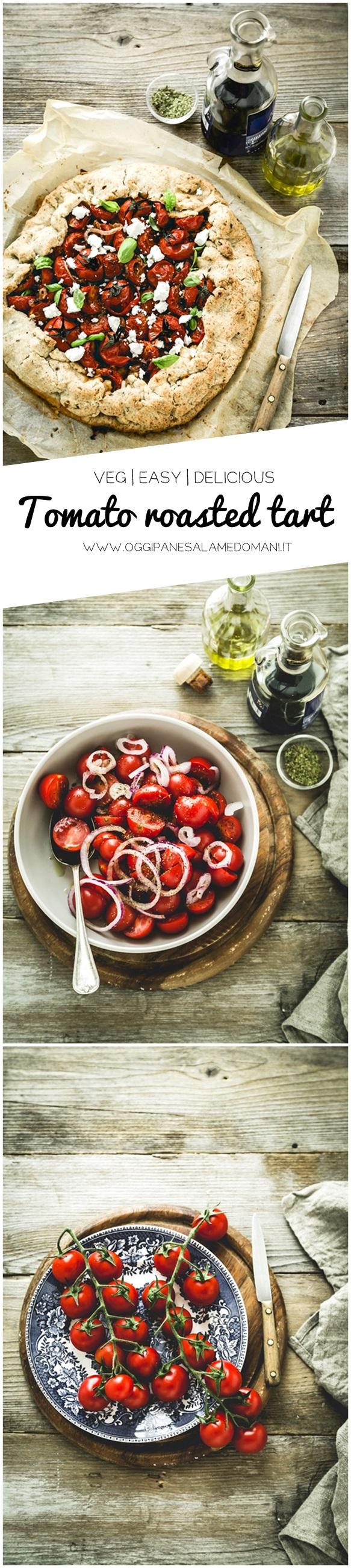 torta salata ai pomodori - tart ai pomodori - roasted tomato tart