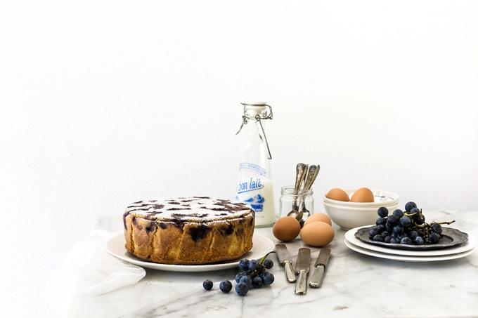 TORTA CON UVA AMERICANA - STRAWBERRY GRAPE CAKE - OPSD