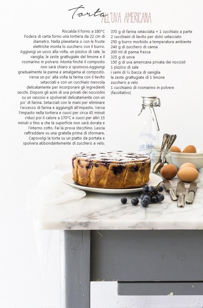 TORTA CON UVA AMERICANA 2 - STRAWBERRY GRAPE CAKE recipe - OPSD